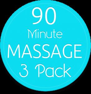 3 90 min massage pak gv