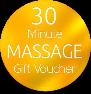 30 min massage gift voucher