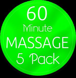 5 60 min massage pak gv